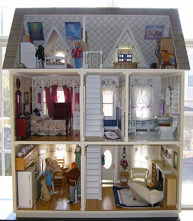 dolls house wallpaper bedroom - photo #11