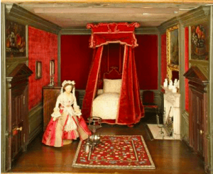 nostell-priory-dolls-house-chippendales-red-velve-bedroom