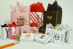 famous-name-shopping-bags-1:12-scale
