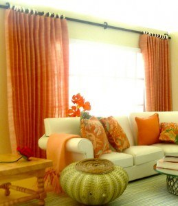 pleated-peach-dollhouse-curtains-1/12 scale
