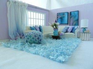 Aqua Room Accessory Ensemble