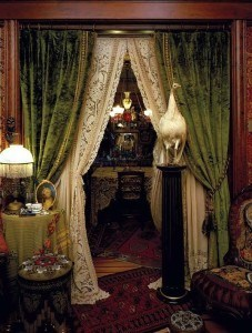 curtains-puddle-Edwardian-parlor