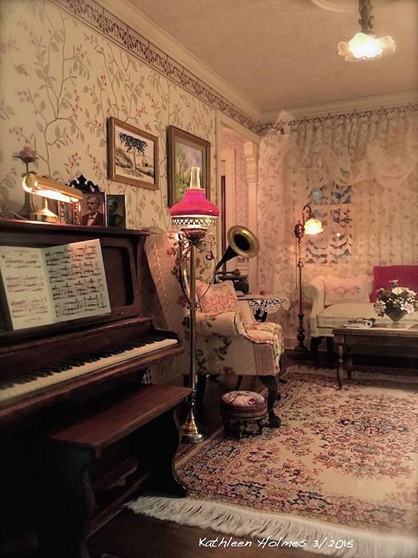 Dollhouse Mid Century Beauty – The Living Room