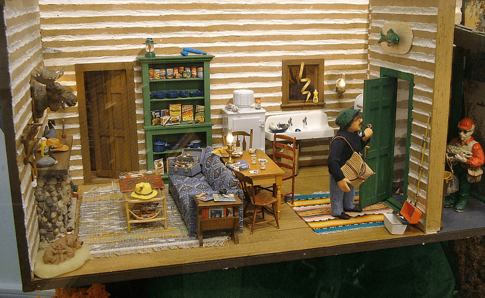 Log Cabin Room Boxes Dollhouse Decorating