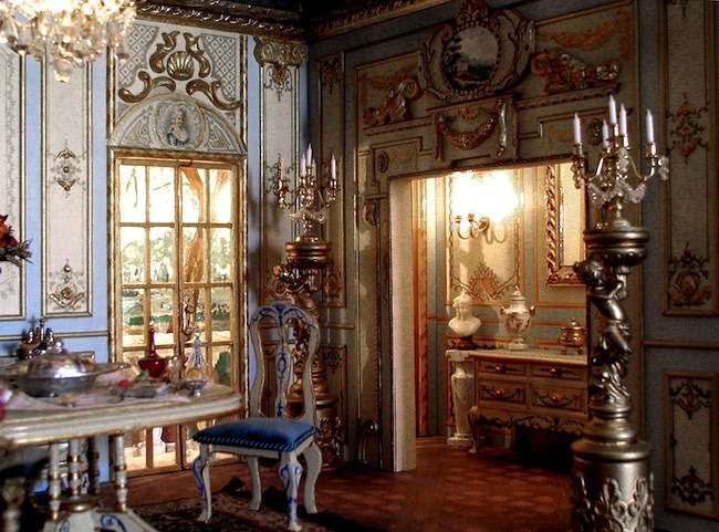 the baroque style dollhouse decorating. Black Bedroom Furniture Sets. Home Design Ideas