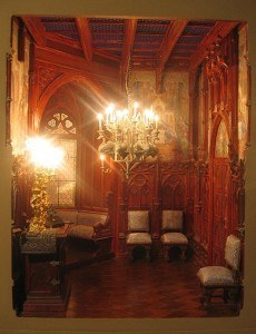 robert-dawson-Neuschwanstein-bedroom-miniature-Ludwig II