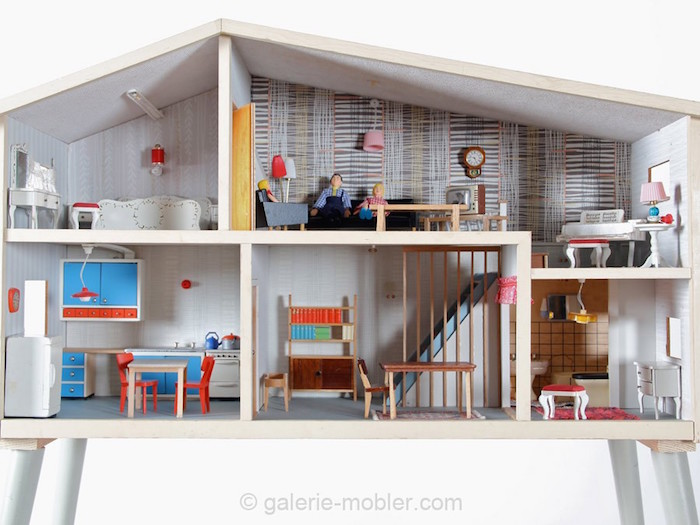 modern scandinavian miniatures dollhouse decorating. Black Bedroom Furniture Sets. Home Design Ideas