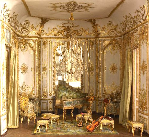 baroque interiors dollhouse decorating. Black Bedroom Furniture Sets. Home Design Ideas