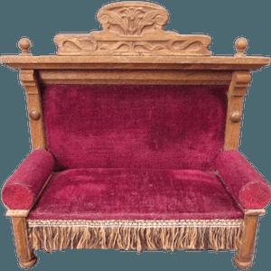 Victorian Furniture Late Art Nouvea Settee